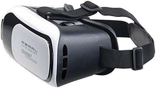 auvisio Virtuelle 3D Brille: Virtual-Reality-Brille für Smartphones, 3D-Justierung (VR Brille 3D)