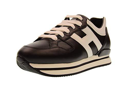 Hogan Schuhe Frau niedrige Turnschuhe HXW2220T548HQK0002 H222 Größe 36 Schwarz/weiß