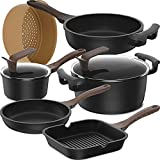 8-Piece Set Non-Stick Induction Cookware Set,...