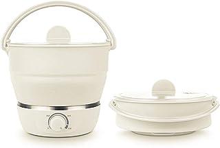 Drizzle Hot Pot cuiseur électrique pliable double Voltage100V-240V, Mini Bouilloire Silicone Grade Cookerware Eau bouillan...