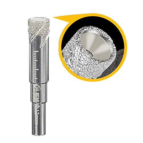 Broca de diamante, para azulejos, cristal, 12 mm, corona de perforación para cerámica, granito, vidrio, porcelana, azulejos