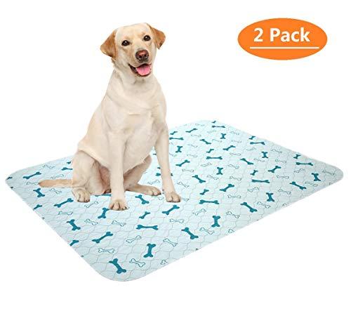 Geyecete Lot de 2 coussinets anti-pipi lavables pour chiens, imperméables et réutilisables Tapis d'entraînement pour chiot Taille M