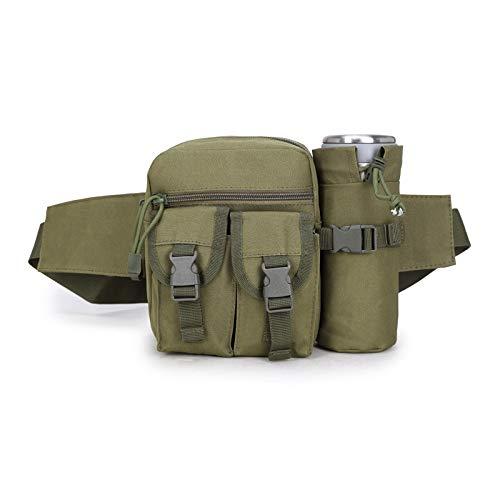 Beho 600Dナイロン屋外袋ウエストバッグモールポーチウォーターボトルホルダー防水ミリタリーバッグ - カーキ