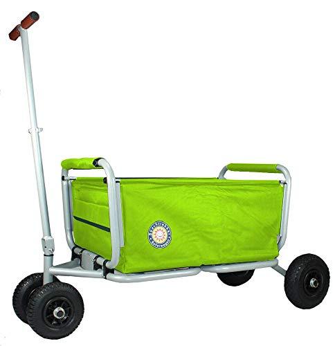 Beachtrekker Life Faltbarer Bollerwagen + Feststellbremse, klappbarer Handwagen (Grün)