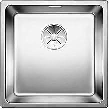 BLANCO Andano 400-IF, keukengootsteen voor normale en vlakke inbouw, inbouwspoelbak, met InFino-afvoersysteem, roestvrij s...