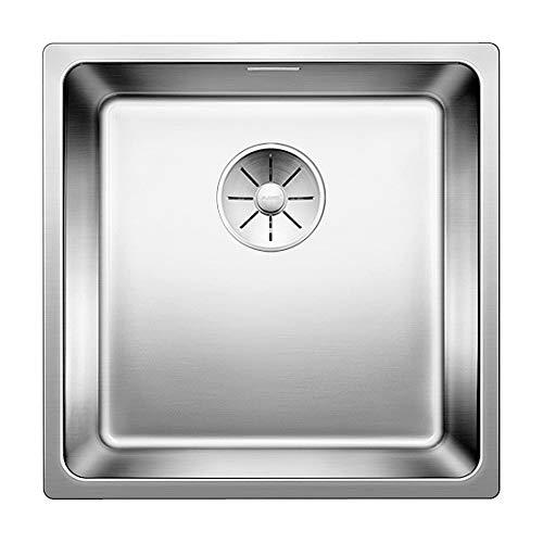 BLANCO Andano 400-IF, Küchenspüle für normalen und flächenbündigen Einbau, Einbauspüle, mit InFino-Ablaufsystem, Edelstahl Seidenglanz; 522957