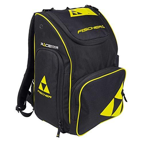 FISCHER Unisex– Erwachsene, schwarz/gelb Backpack Race 55 L, 57x37x31 cm