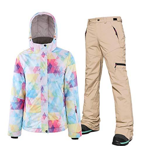 Dameskostuum, ski-jack en broek, ademend, snowboard-jas, skibroek, snelheid, voor snowboarden, sneeuw, bergbeklimmen, winddicht, waterdicht
