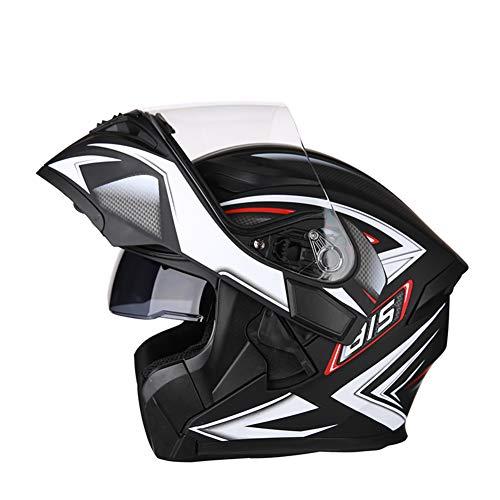 Ra Helmet Casco Modular De Motocicleta,Voltear hacia Arriba Casco Bluetooth Moto Hombres Y Mujeres Bike Motorbike Casco-s 3XL