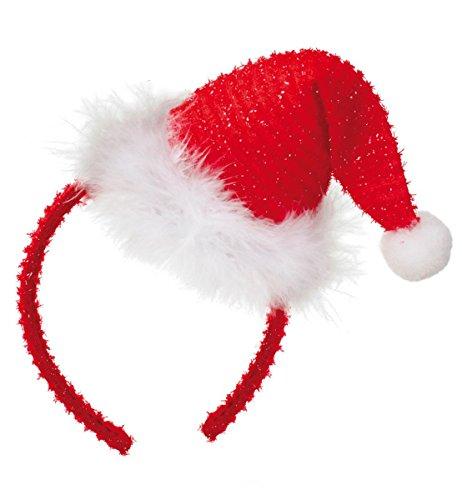 Serre-tête pour déguisement casquette père noël 57119 neuf/emballage d'origine
