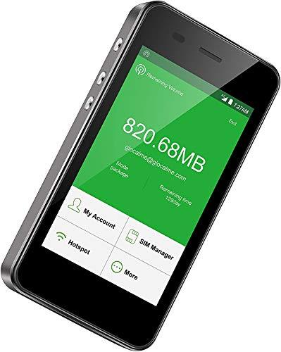GlocalMe G3【公式販売】(Black・黒) モバイル WiFi ルーター SIMリー 1.1GB分の世界で使えるデータと2GB分の日本データ付き 高速通信 140以上の国や地域に対応 モバイルバッテリー