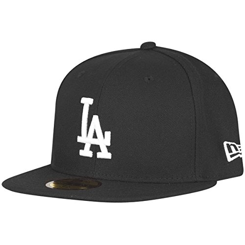 New Era Casquette MLB BASIC LOS ANGELES DODGERS black white, 7 (55.8cm)