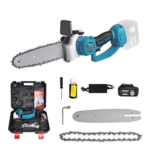 Mini sierra de cadena eléctrica sin cable con bloqueo de seguridad, sierra...