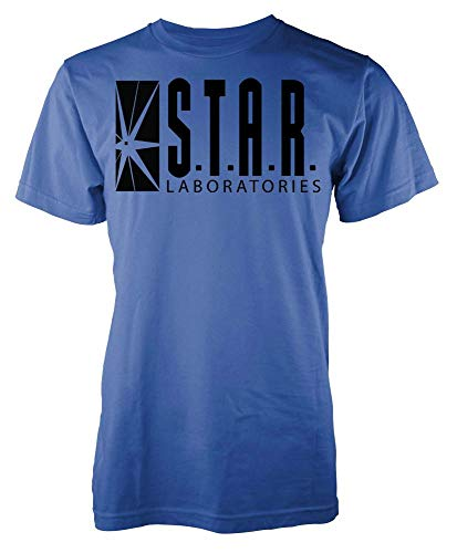 Ramgfx - Camiseta Unisex con diseño de Estrellas de Laboratorio Flash Star para Adultos y niños