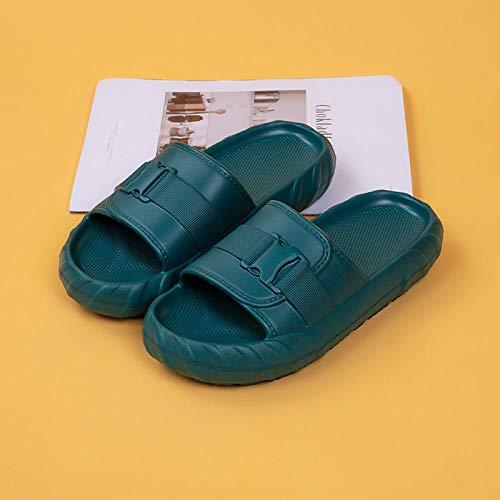 XZDNYDHGX Verano Antideslizante Zapatillas Casa Hombre,Zapatillas Mujer Hombre Casual Diapositivas para el hogar, Playa Zapatillas Suaves Zapatos de baño Antideslizantes Azul 1 EU 33-34