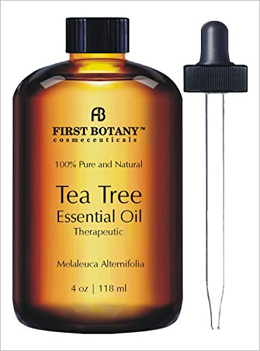 Australian Pure Tea Tree Essential Oil - 4 Fl.oz. with Glass Dropper 100% Natural Therapeutic Oil to...