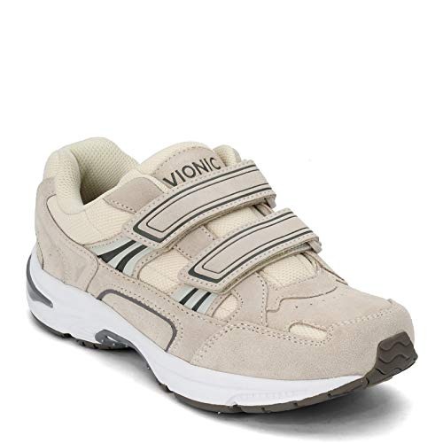 Vionic Tabi Women's Orthotic Walking Shoe - Strap Clos Cream Suede - 10.5 Wide