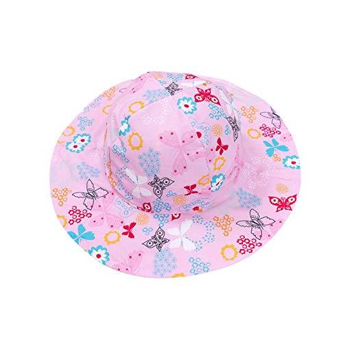 SJYM UV-Schutzkappe Baby Sonnenhut Jungen Kinder Unisex Strand Mädchen Eimer Hut Cartoon Säuglingsmütze Baby Fotografie Requisiten Hut, H, M.