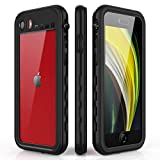 AICase Funda Impermeable iPhone SE 2020/8/7 [Anti-rasguños][Protección de 360 Grados],Case Protectora con Protector de Pantalla Incorporado para iPhone SE 2020/8/7 (Impermeable-1)