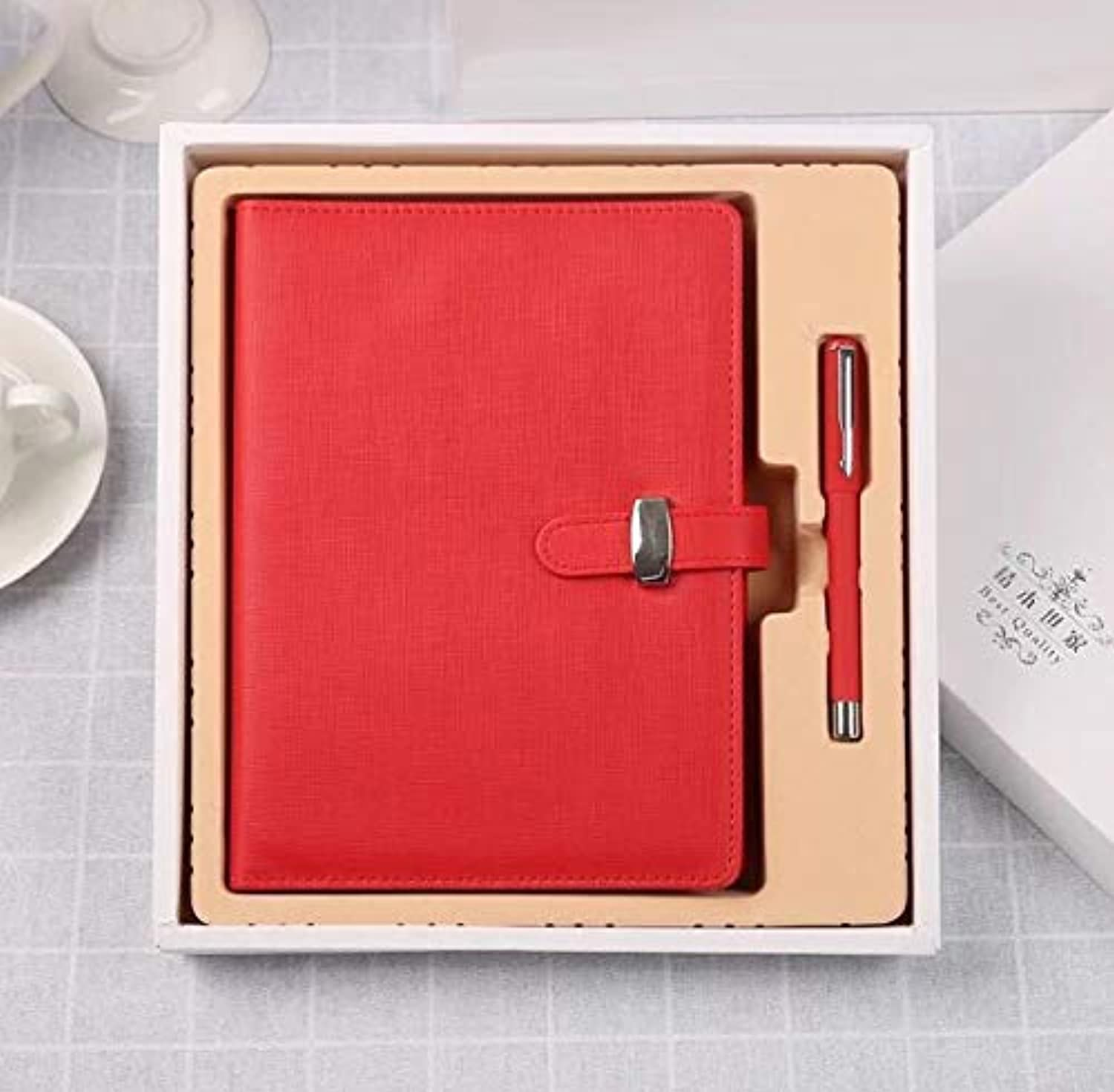 A5 LooseLeaf Detachable Page Diary Imitation Leather Cover Suit Business Business Office Stationery Notepad,Red