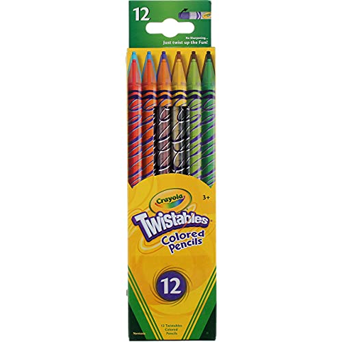 Crayola 071662574086 Twistables Pencils, Assorted Colors 12 Ea (Pack of 3)