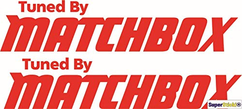 SUPERSTICKI Tuned by Matchbox Auto Aufkleber ca 20cm Aufkleber Sticker Decal aus Hochleistungsfolie Aufkleber Autoaufkleber Tuningaufkleber Racingaufkleber Rennaufkleber Hochleistungsfolie