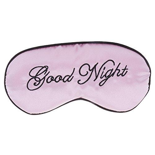 HuntGold Good Night Augenmaske / Schlafmaske, bestickt, lindernd, für Herren und Damen