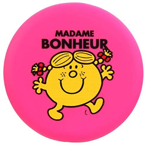 Les Trésors De Lily [Q9332] - Miroir de poche 'Monsieur Madame' rose fuschia (Madame Bonheur) - 7.8 cm