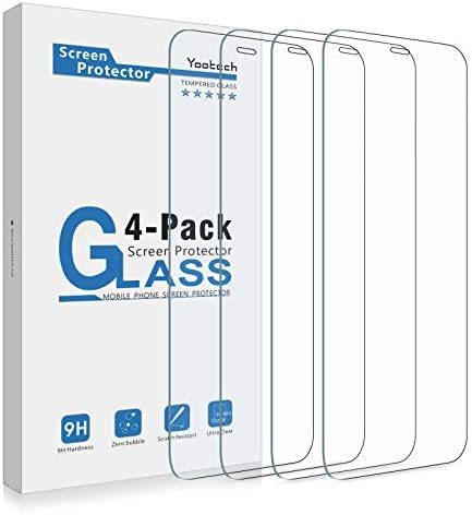 Yootech 4 Pack Screen Protector Compatible with iPhone 12 Mini Tempered Glass Screen Protector product image