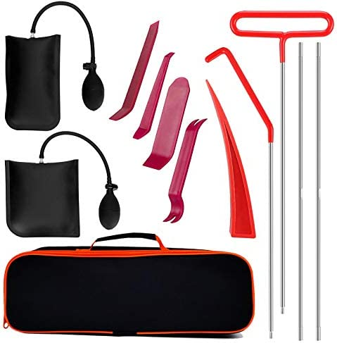 Full Professional Automotive Tool Kit with Long Reach Grabber with Air Wedge Bag Pump Non Marring product image