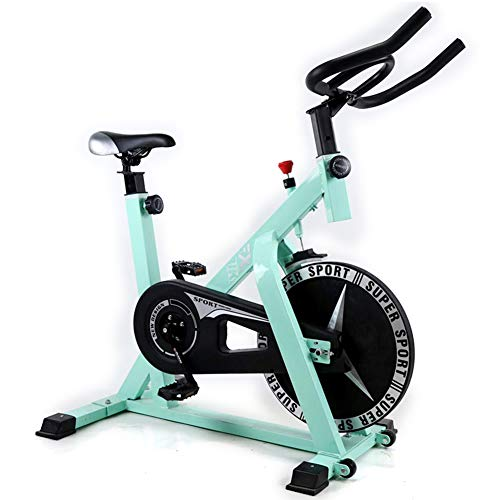 Shocly Spinning Bike F-Bike Fahrradtrainer Heimtrainer Faltbares Fitnessbike Profi Indoor Cycle Speedbike Fitness Haushalt PlastizitäT,Blue