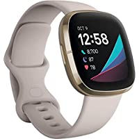 Fitbit Sense Advanced Smartwatch with Tools (White/Gold)