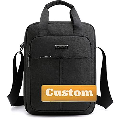 Nombre Personalizado Messenger Bag Nylon Crossbody Bolsos Bolsas para niñas para la Escuela Nylon Travel Crossbody (Color : Black, Size : One Size)
