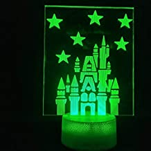 Gaming Accessories for Desk 3D Lamp Night Light with Lovely The Princess Castle for Children Birthday Decorative USB Led N...