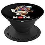 Cryptocurrency Talk Tron HODL Space Man On Toilet Merch PopSockets Agarre y Soporte para Teléfonos y Tabletas