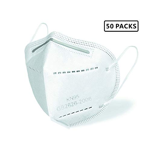 Smile ƙṇ95 Face Mẵsk, 50PCs Disposable Face Mẵsk fdẵ ẵpproved, 6-Ply with Elastic Ear Loop, In stock, shipped from US