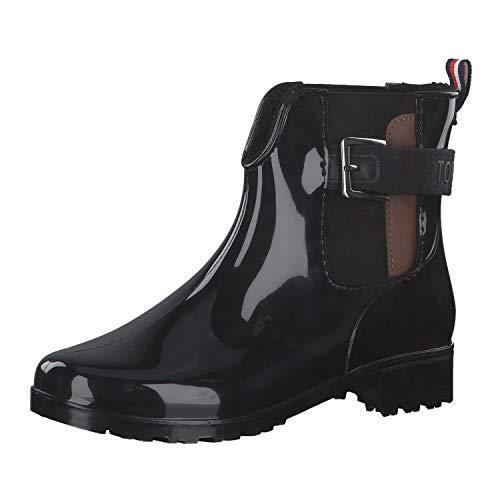 TOM TAILOR für Frauen Schuhe Gummistiefel mit Riemen Black, 41