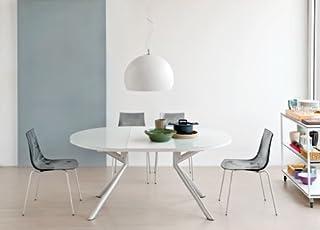 OG Table Extensible Meteor Verre Blanc