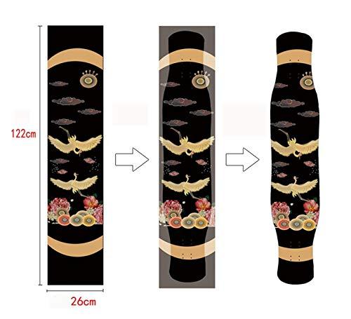 Skateboards Cinta de Agarre de la patineta, 52x26cm Gripe de Longboard, Tablero de Bricolaje, Anti resbalón de arenaje Longboard Scooter Griptape Sticker para niños y Principiantes. (Color : A28)