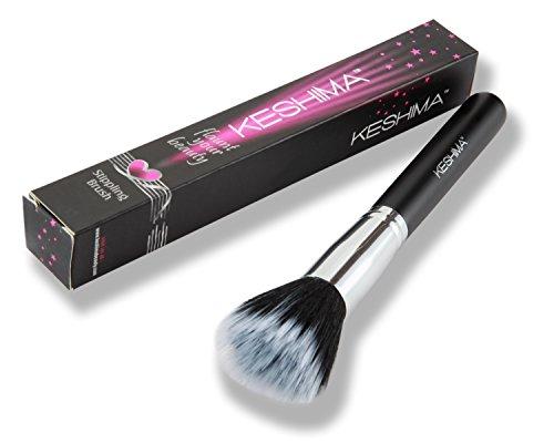 Stippling Brush By Keshima ★ Premium Duo Fiber Stipple Brush, Best Liquid Foundation Brush, Blending Brush, Face Brush