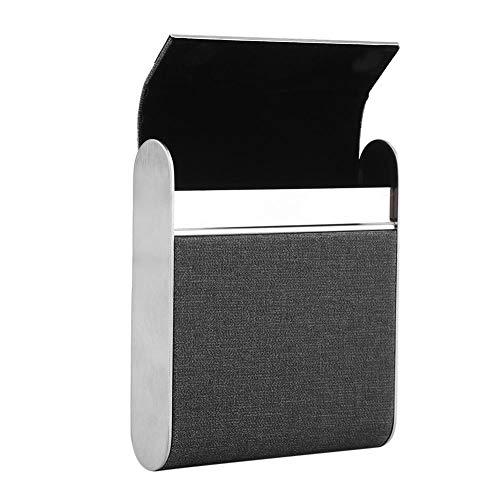 Duokon Zigarettenetui Lederetui Zigarettenboxen aus Metall für 20 Zigaretten 3 Farben(Schwarz)