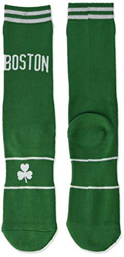 NBA Boston Celtics Unisex Uniform Crew Socks, Multicolor, Large