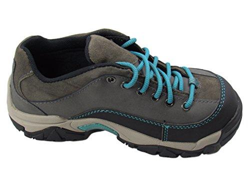 WOLVERINE Hytest K17003 Apex Oxford Steel Toe, Electrical Hazard, Slip & Oil Resistant Safety Work Shoe (6.5 C/D US) Grey