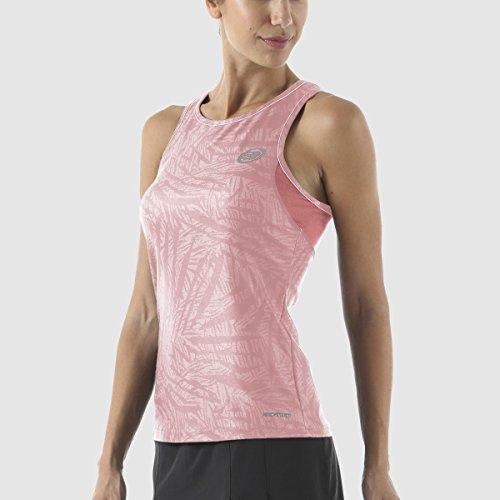 Maglietta BULLPADEL AST donna rosa pastello
