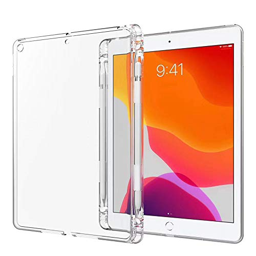 of tpu cases for ipads Arlgseln TPU Case for iPad Mini,Clear Soft Tablet Case TPU Transparent Shockproof Protective Cover+Apple Pencil Holder Case for iPad Mini 5 7.9inch A2126/A2125/A2133 2019/iPad Mini 1/2/3/4 (Mini 7.9