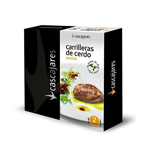 CASCAJARES - Carrilleras de Cerdo confitadas en aceite de oliva, perfectas para 2 personas y no contienen gluten.