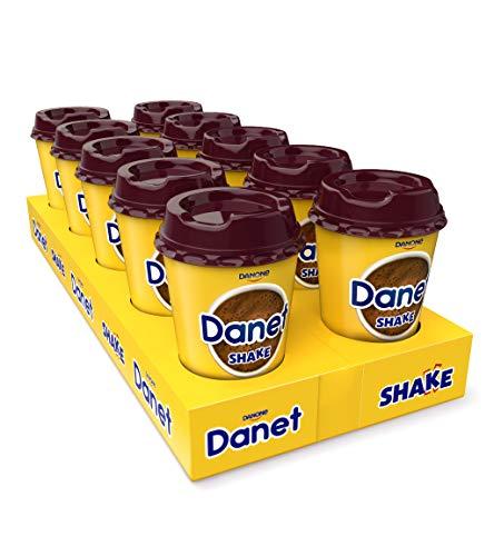 Danet Shake Batidos Sabor Chocolate, 200 ml - Pack de 10