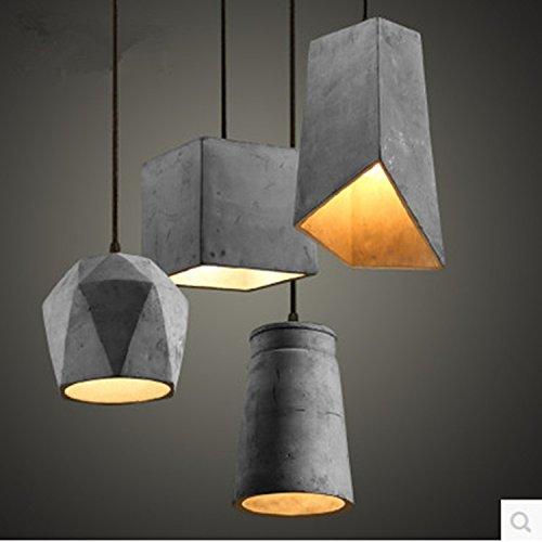 Moderna lampada pendente Personalità creativa lampade arte retrò ristorante corridoio minimalista lampadario di cemento