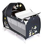 foto CAM Daily Plus - Cuna de viaje grande (120 x 60 cm, incluye cambiador, colchón de viaje, ruedas y bolsa de transporte) Happy Animals azul.