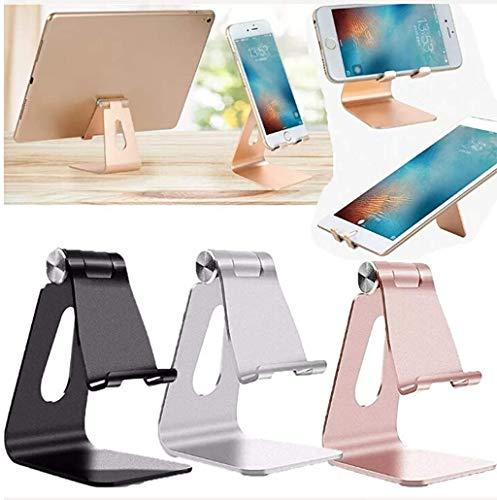 Totalmente Plegable, Soporte para teléfono de Escritorio Ajustable, Compatible con teléfono 11 Pro XS XS MAX XR X 8, iPad Mini, Nintendo Switch, tabletas (7 – 10 Pulgadas), Todos los teléfonos (K1)